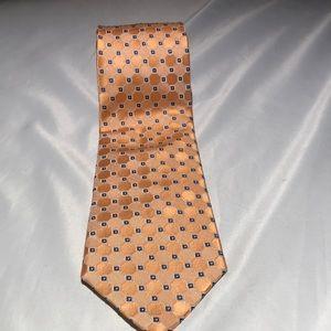 Tommy Hilfiger Orange Navy Tie